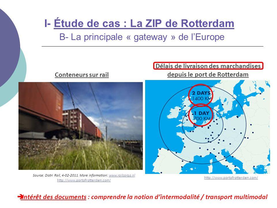 Délais de livraison des marchandises depuis le port de Rotterdam