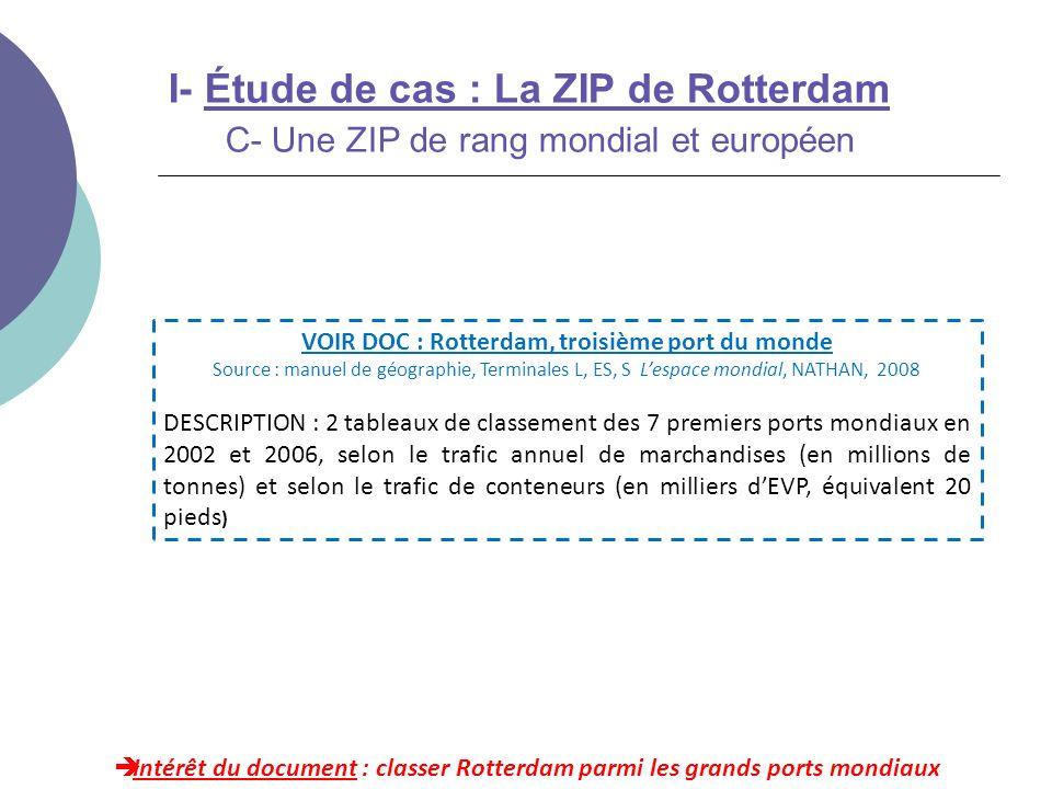 VOIR DOC : Rotterdam, troisième port du monde