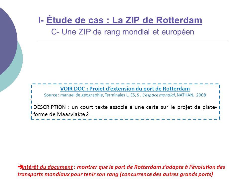 VOIR DOC : Projet d'extension du port de Rotterdam