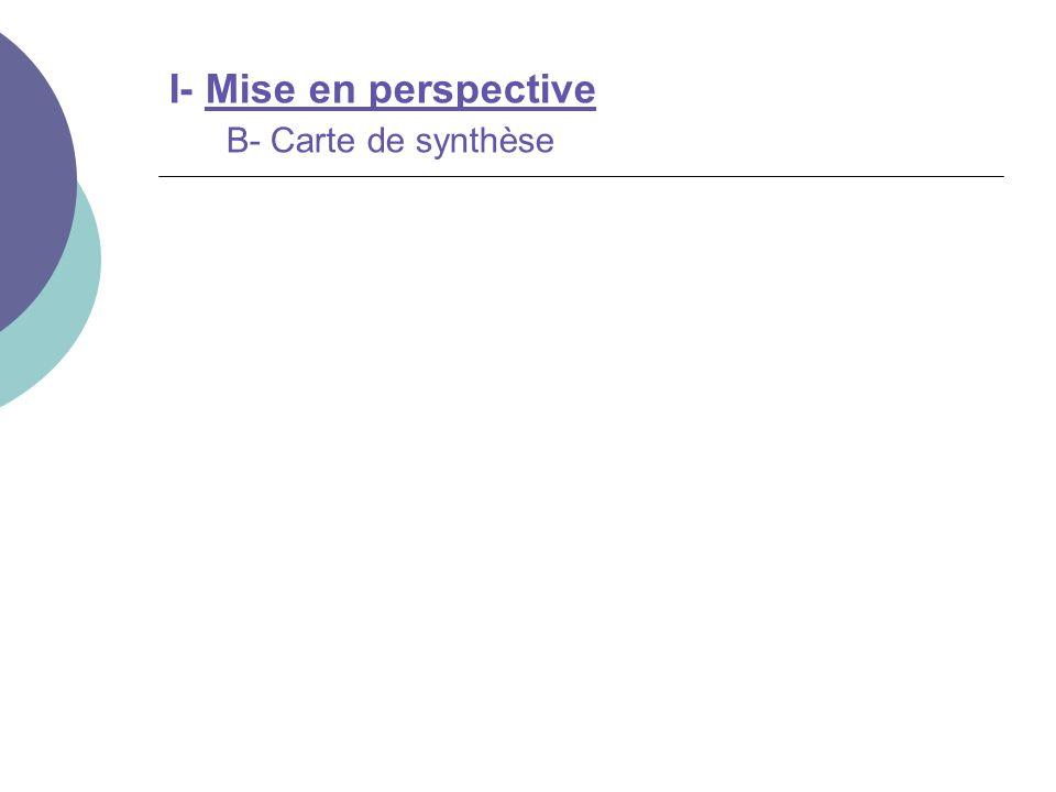 I- Mise en perspective B- Carte de synthèse