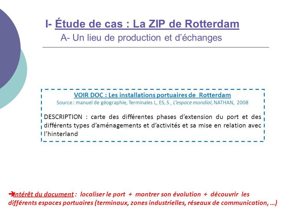 VOIR DOC : Les installations portuaires de Rotterdam