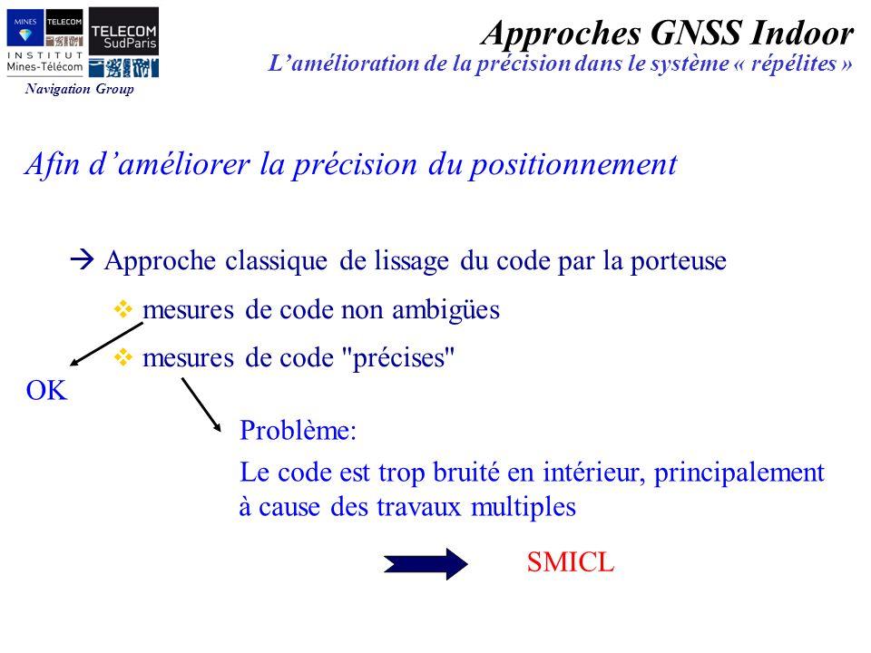 Approches GNSS Indoor Afin d'améliorer la précision du positionnement
