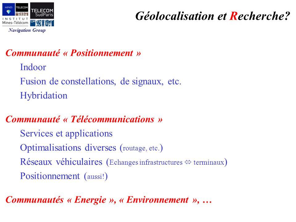 Géolocalisation et Recherche