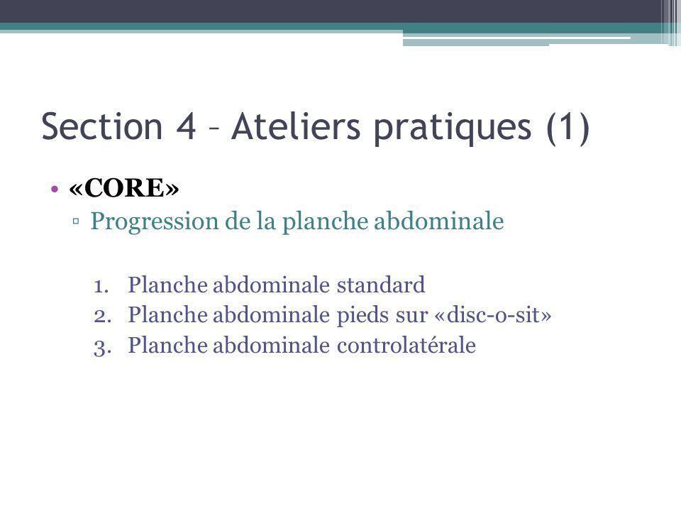 Section 4 – Ateliers pratiques (1)