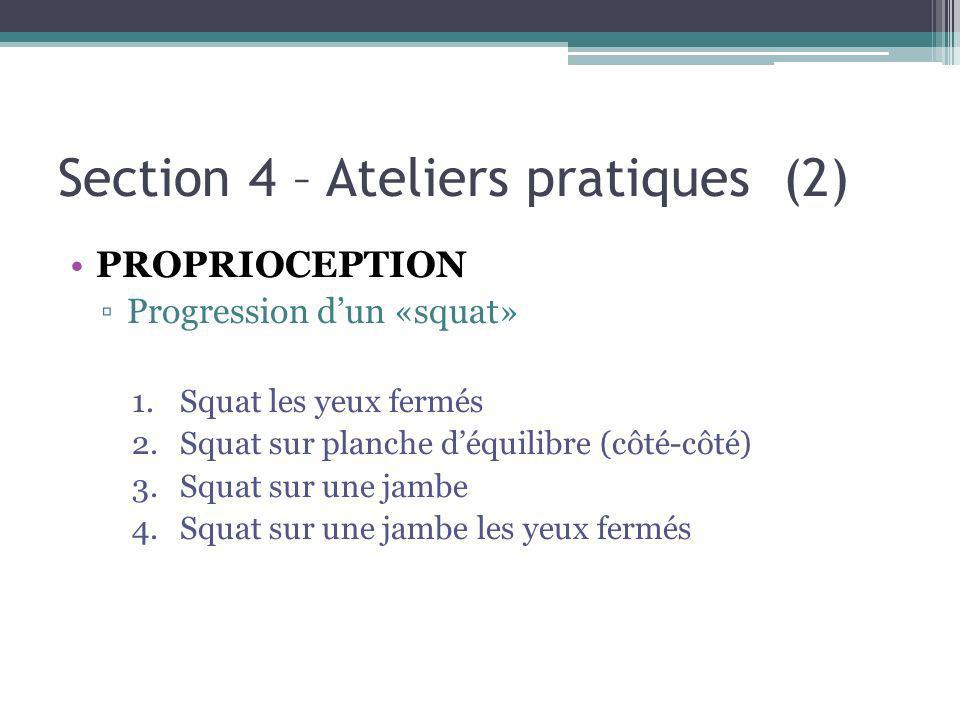 Section 4 – Ateliers pratiques (2)
