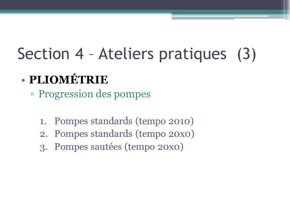 Section 4 – Ateliers pratiques (3)