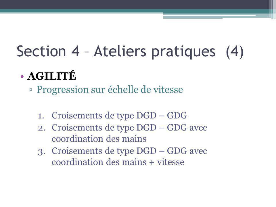 Section 4 – Ateliers pratiques (4)