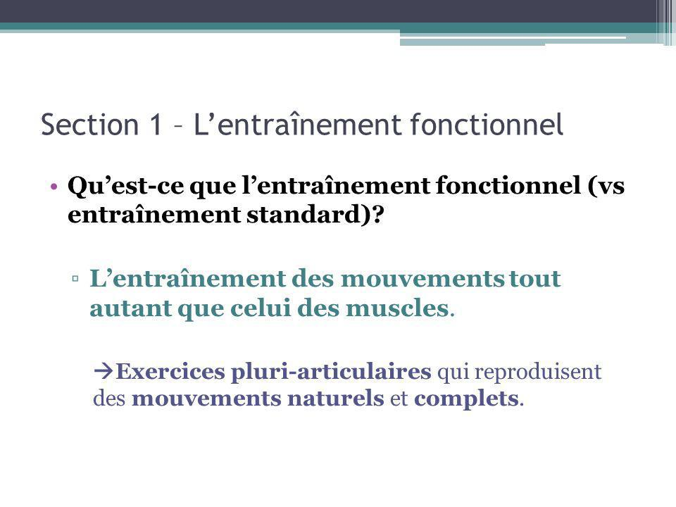 Section 1 – L'entraînement fonctionnel