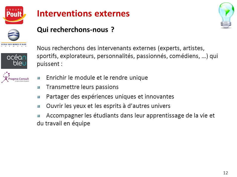 Interventions externes