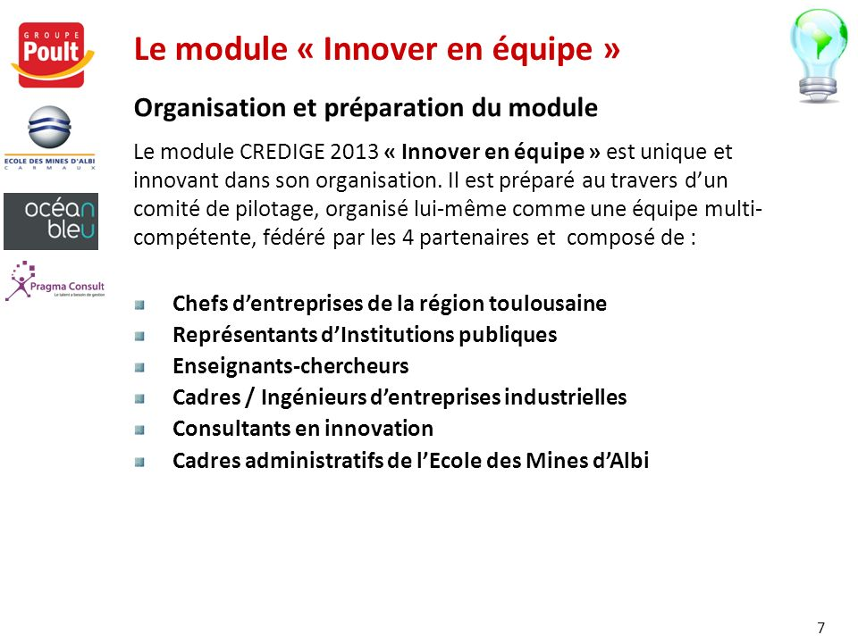Le module « Innover en équipe »
