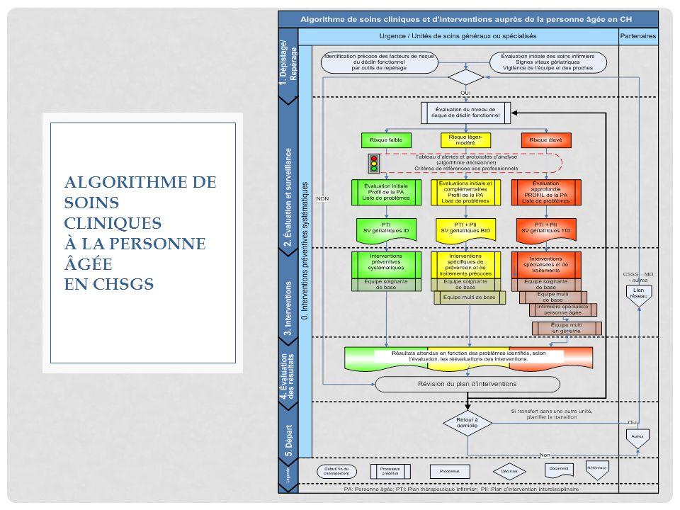 Algorithme de soins cliniques à la personne âgée en CHSGS