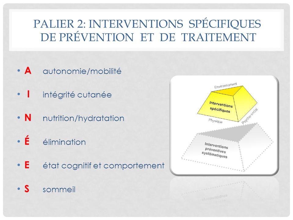 Palier 2: INTERVENTIONS SPÉCIFIQUES DE PRÉVENTION ET DE TRAITEMENT