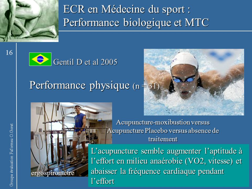 ECR en Médecine du sport : Performance biologique et MTC