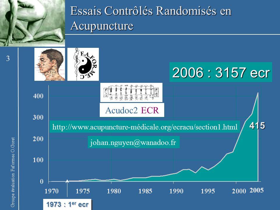 2006 : 3157 ecr Essais Contrôlés Randomisés en Acupuncture Acudoc2 ECR