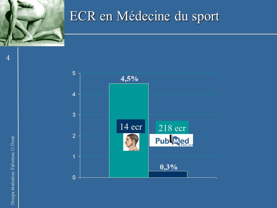 ECR en Médecine du sport