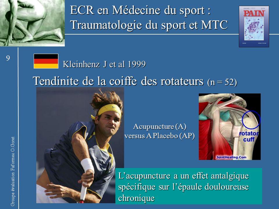 ECR en Médecine du sport : Traumatologie du sport et MTC