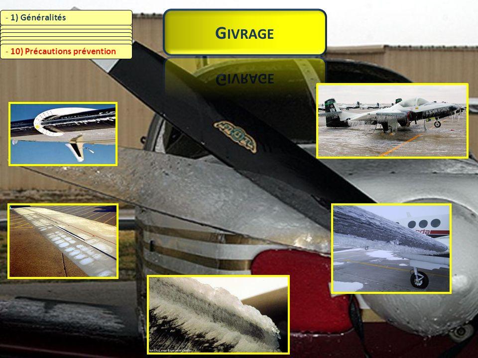 Givrage 1) Généralités 2) Pluie surfondue 3) Eau surfondue / nuages
