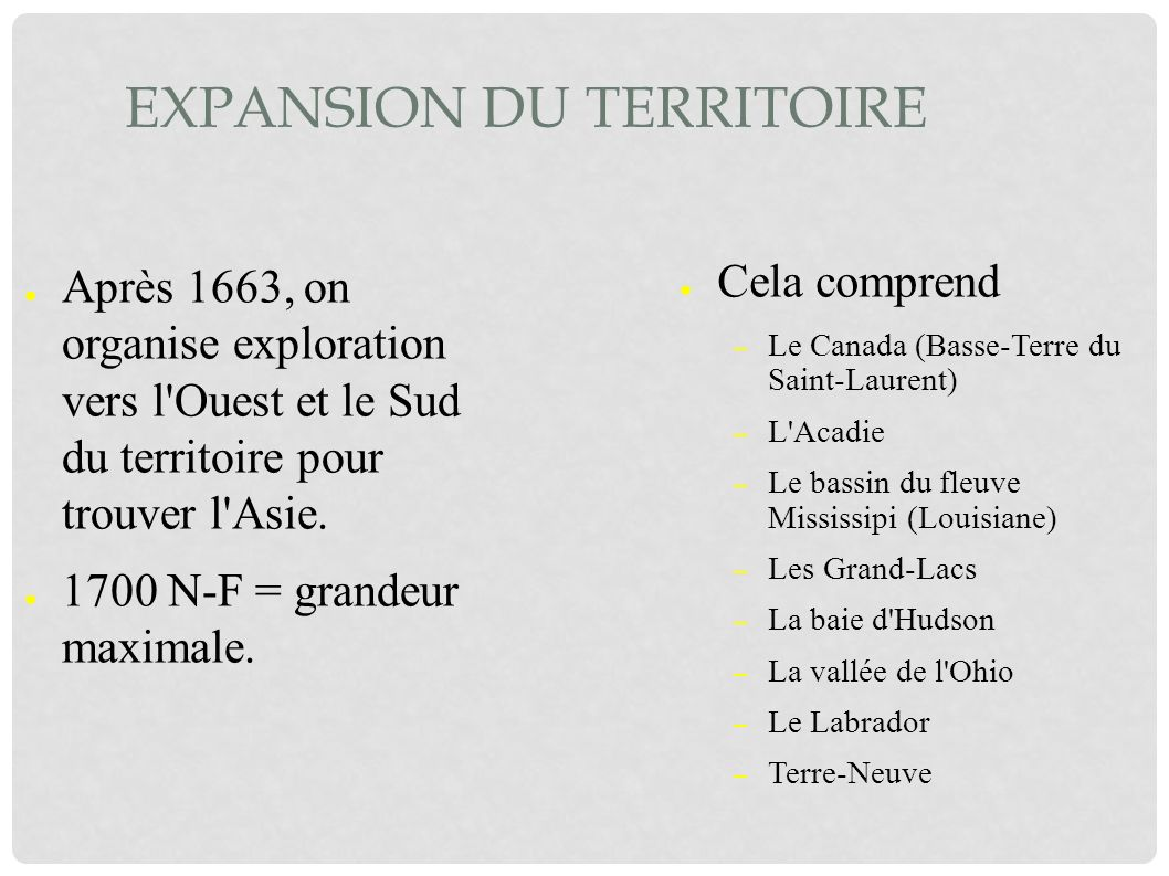 Expansion du territoire