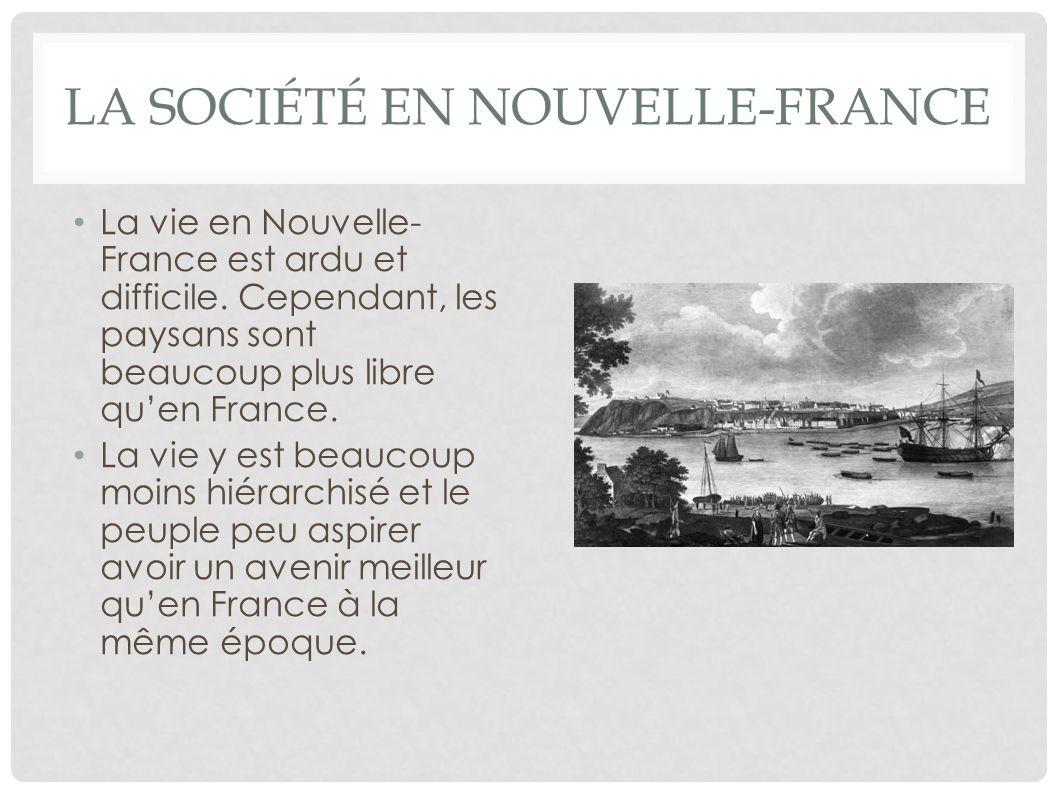 La société en Nouvelle-France