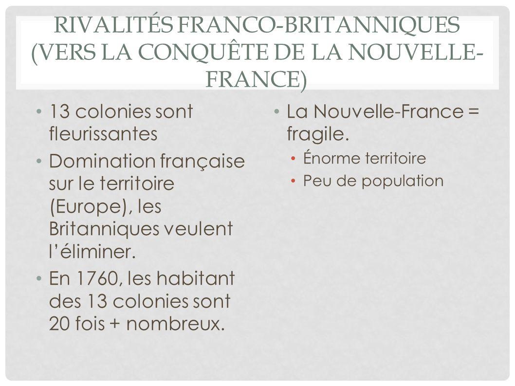 Rivalités franco-britanniques (Vers la conquête de la Nouvelle-France)