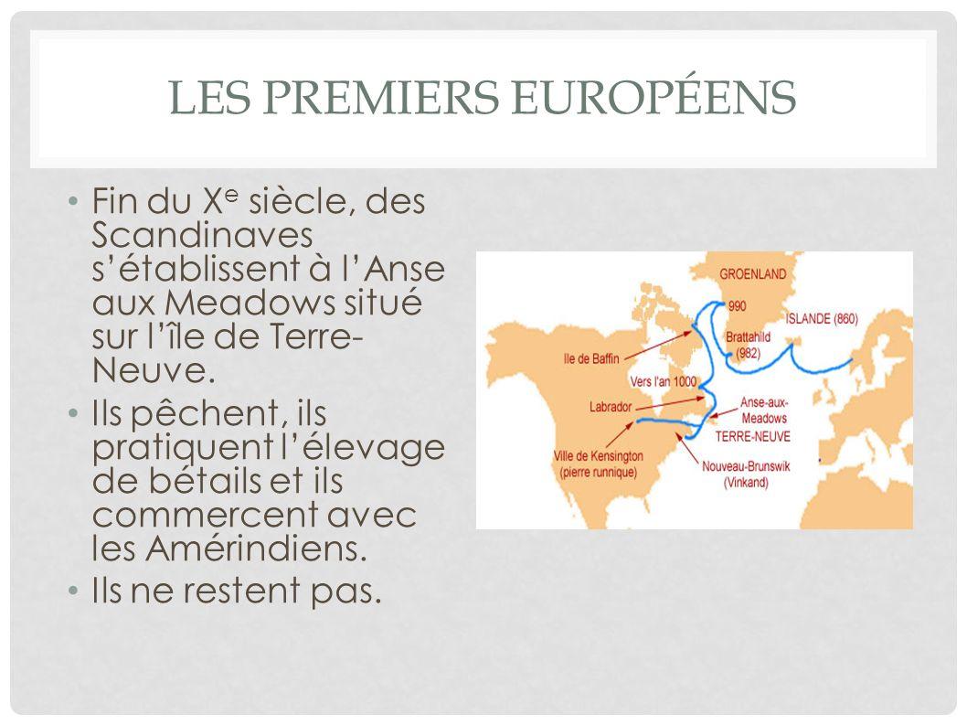 Les premiers européens