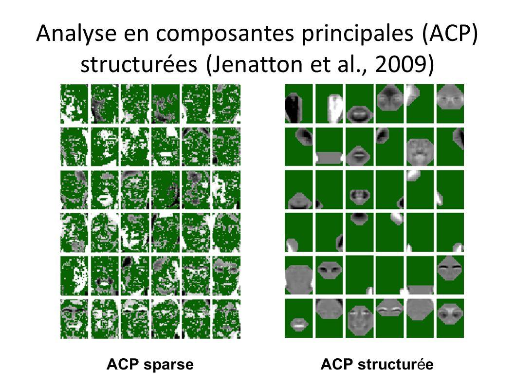 Analyse en composantes principales (ACP) structurées (Jenatton et al
