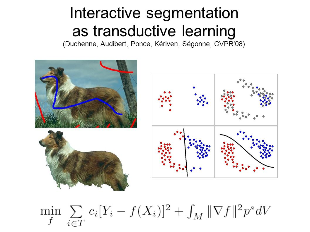 Interactive segmentation as transductive learning