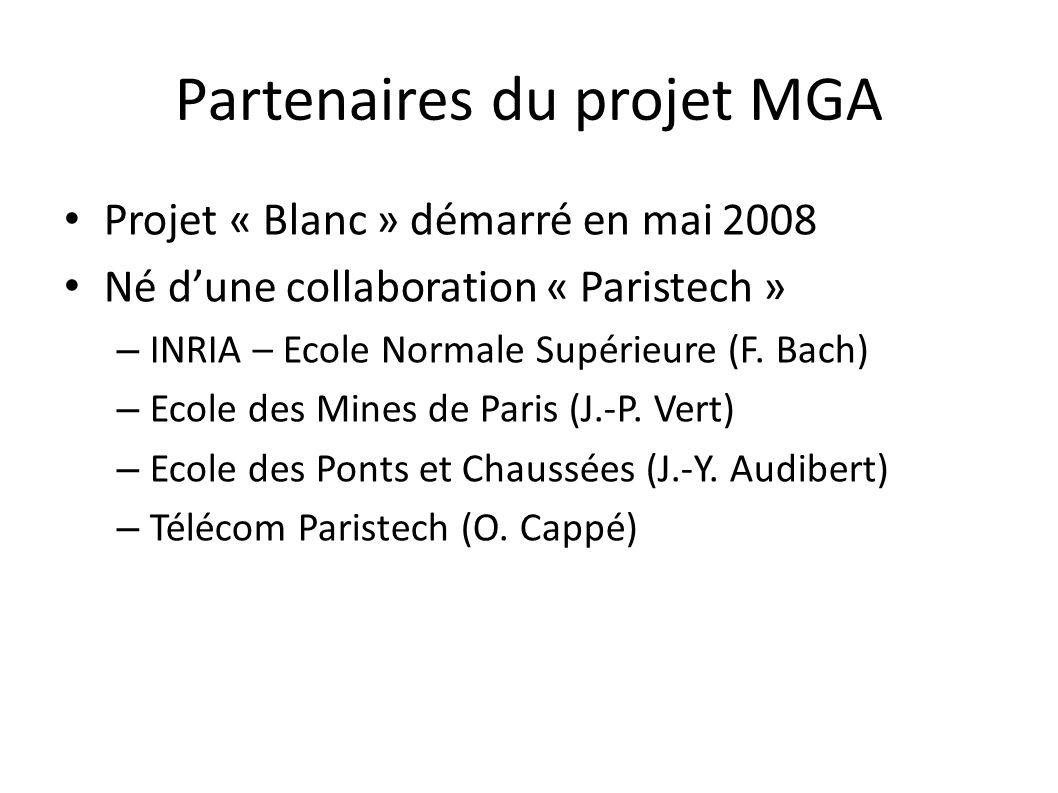 Partenaires du projet MGA