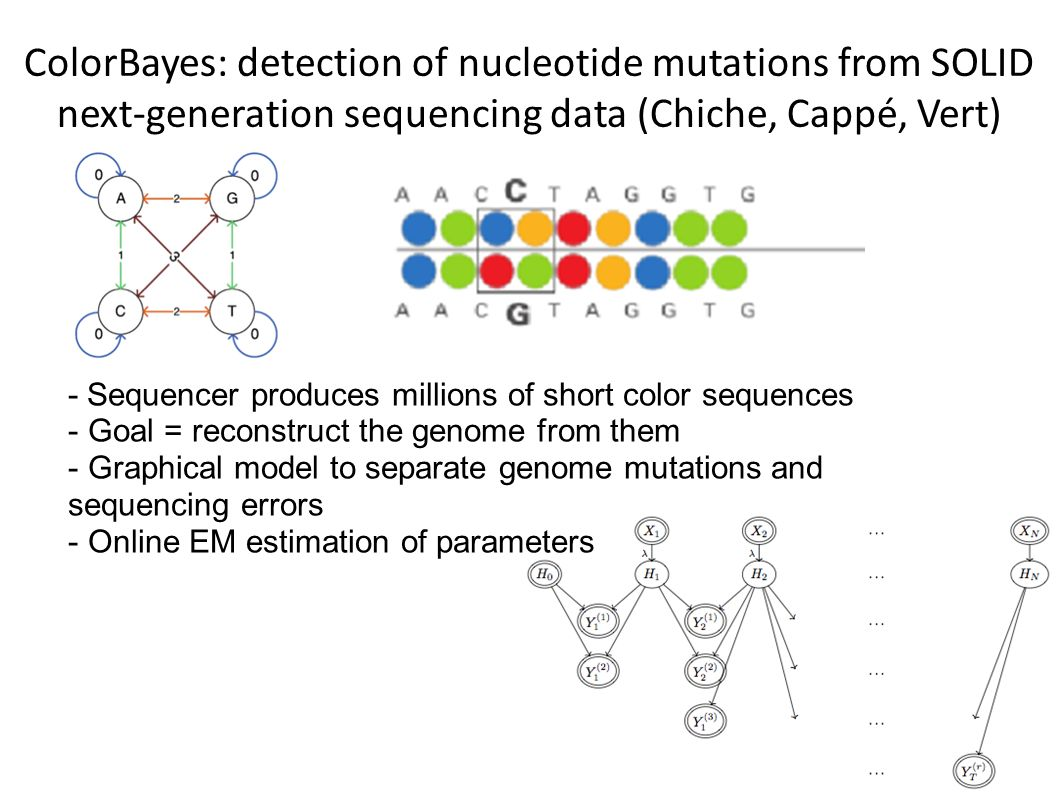 ColorBayes: detection of nucleotide mutations from SOLID next-generation sequencing data (Chiche, Cappé, Vert)