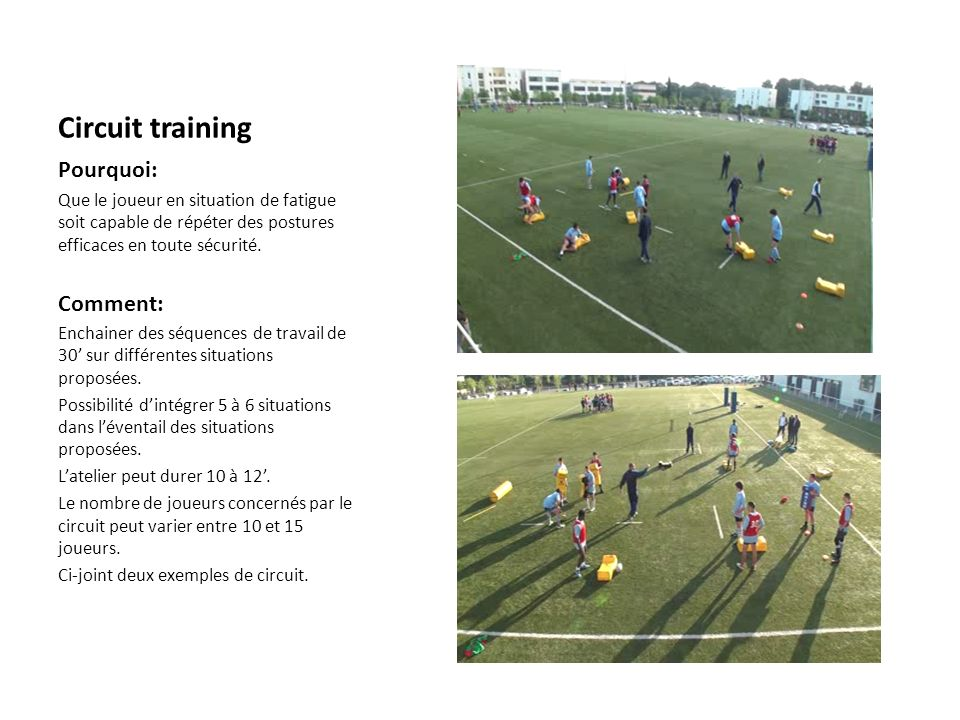 Circuit training Pourquoi: Comment: