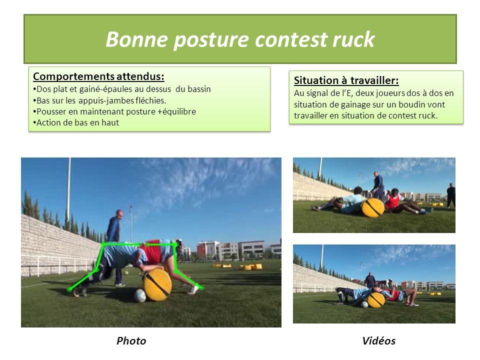 Bonne posture contest ruck