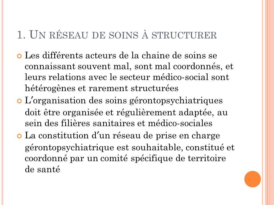 1. Un réseau de soins à structurer