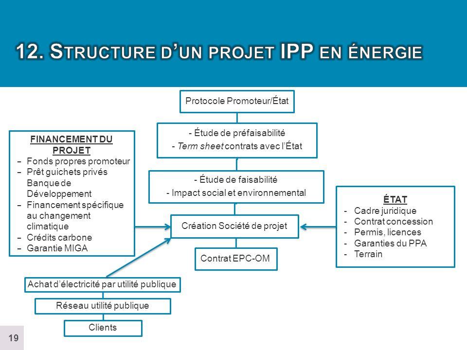 12. Structure d'un projet IPP en énergie