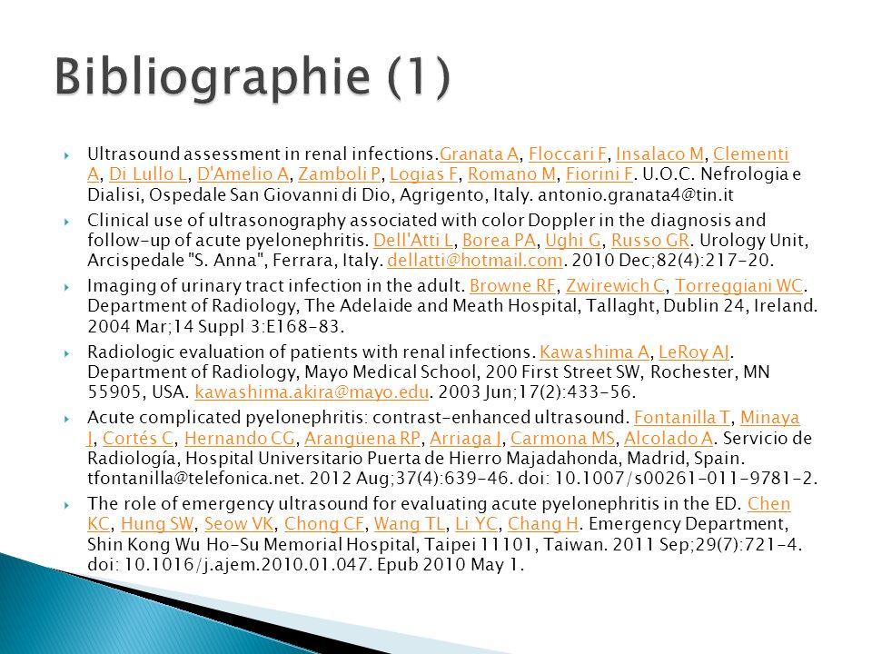Bibliographie (1)