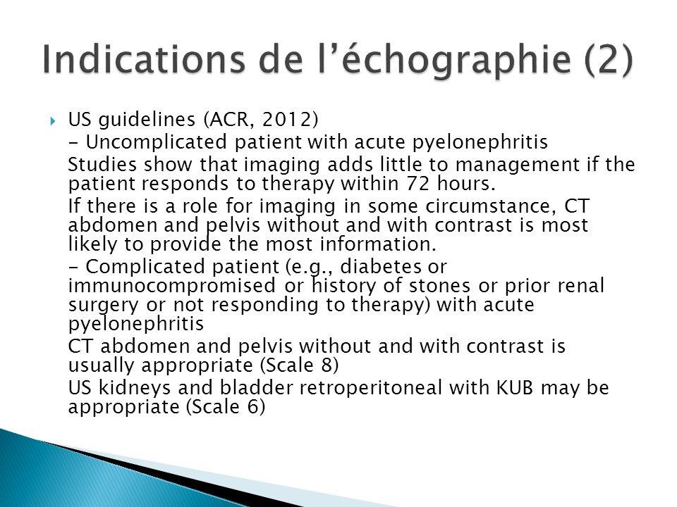 Indications de l'échographie (2)