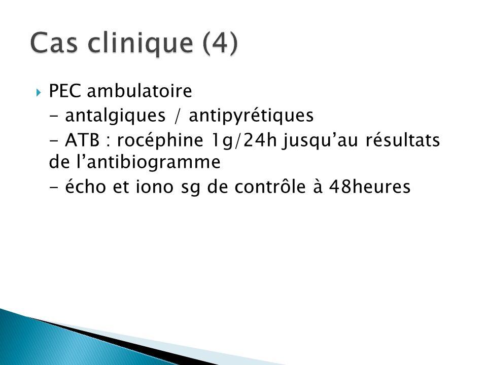 Cas clinique (4) PEC ambulatoire - antalgiques / antipyrétiques