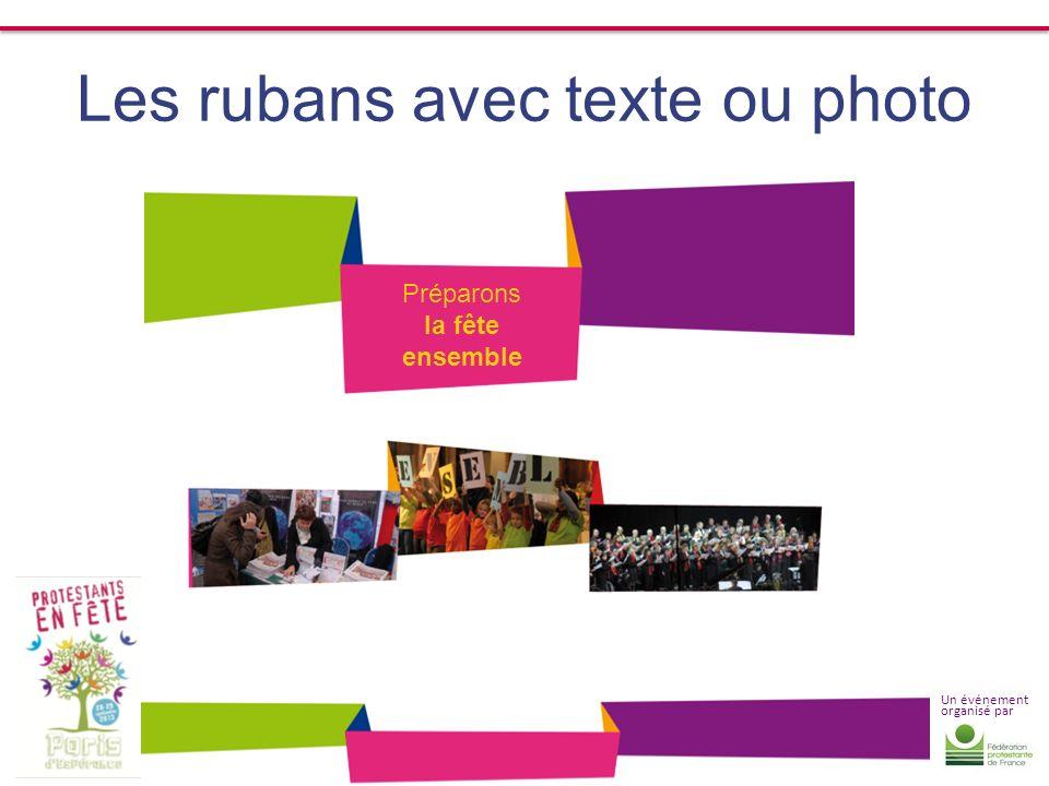 Les rubans avec texte ou photo