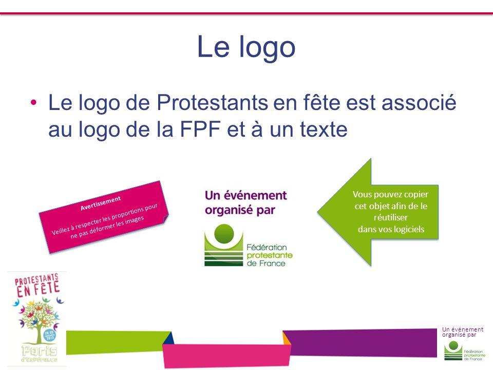 Le logo Le logo de Protestants en fête est associé au logo de la FPF et à un texte. Vous pouvez copier.