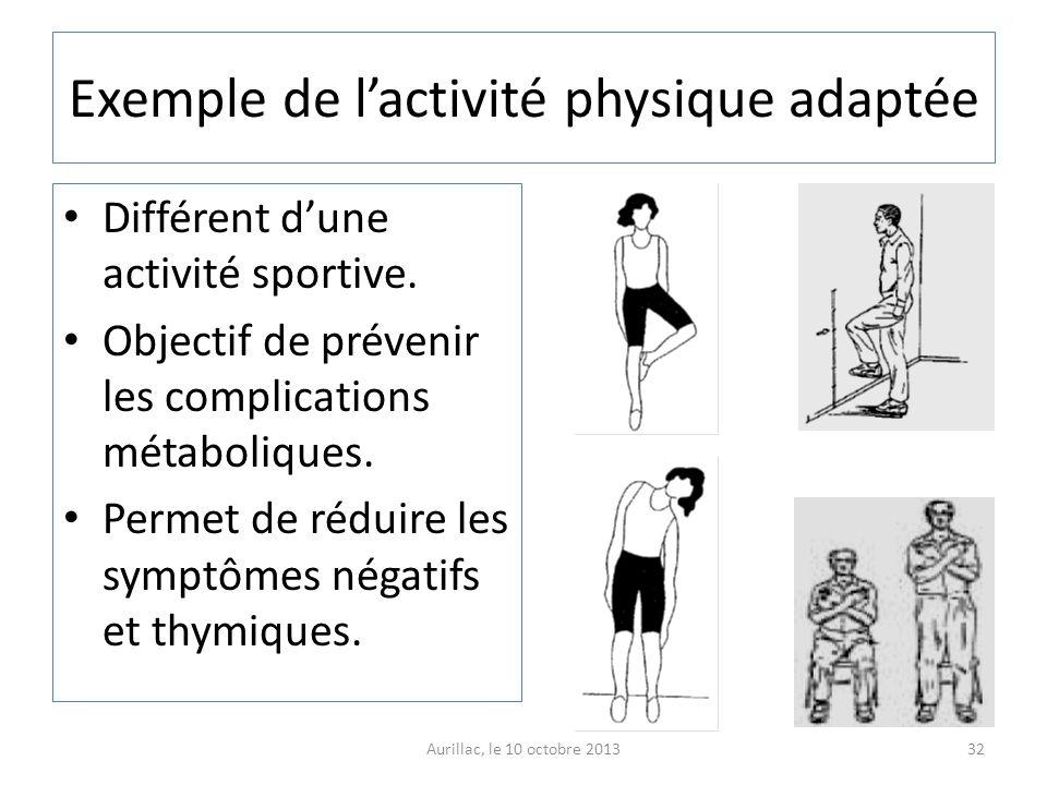 Exemple de l'activité physique adaptée