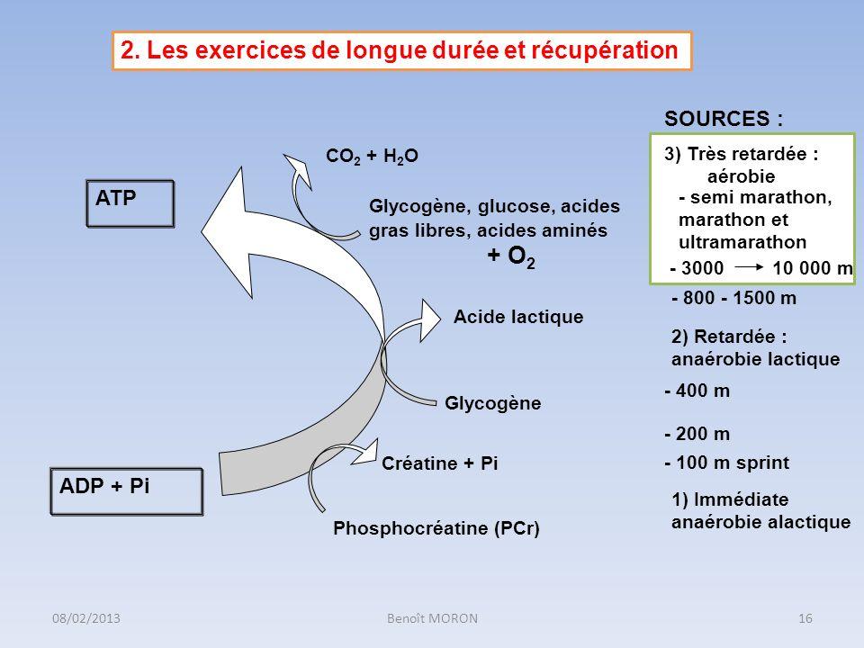2. Les exercices de longue durée et récupération