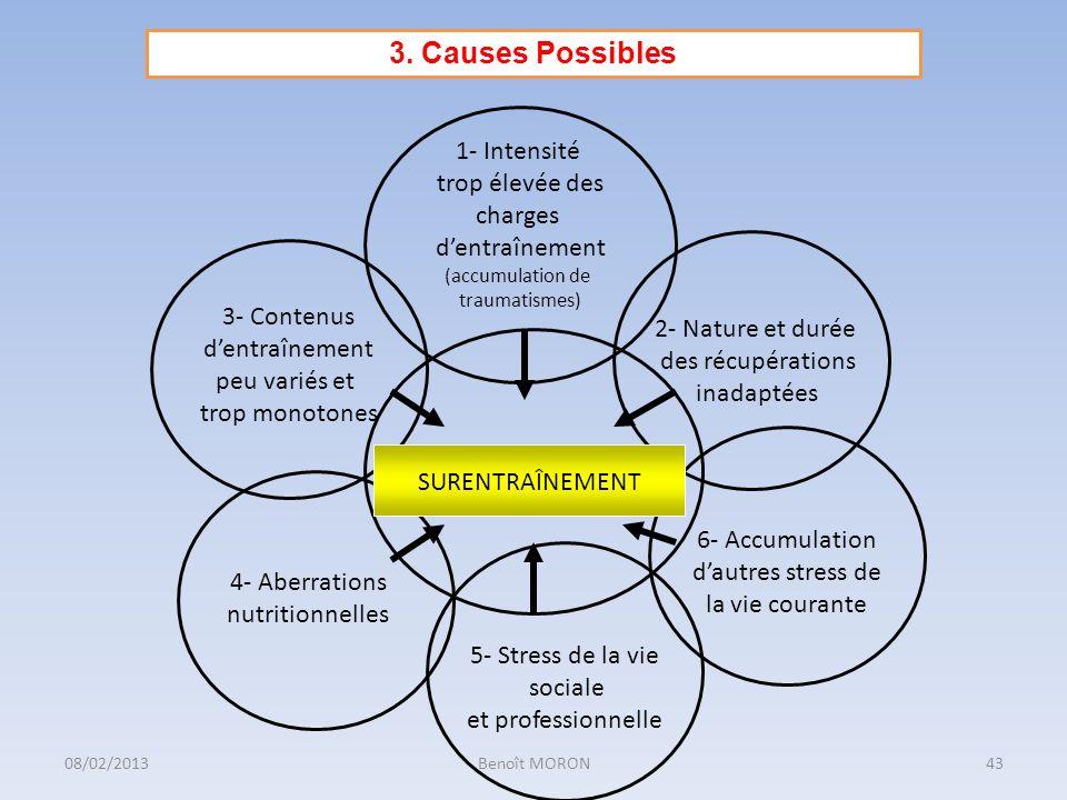 3. Causes Possibles 1- Intensité trop élevée des charges