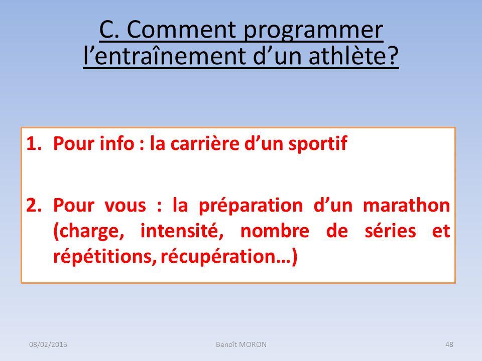 C. Comment programmer l'entraînement d'un athlète