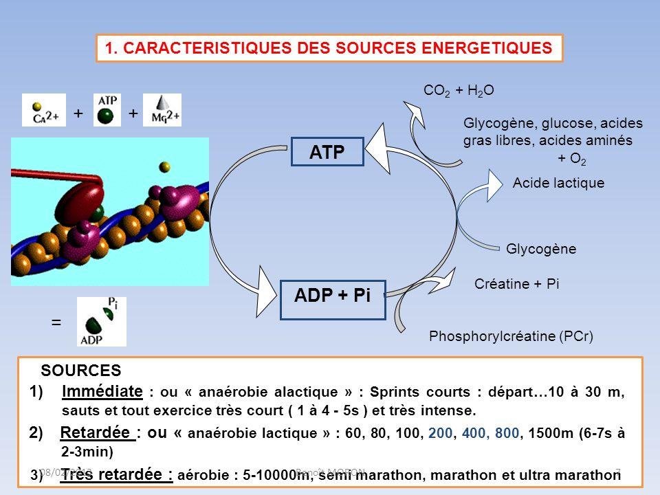 1. CARACTERISTIQUES DES SOURCES ENERGETIQUES