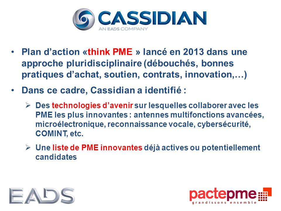 Dans ce cadre, Cassidian a identifié :