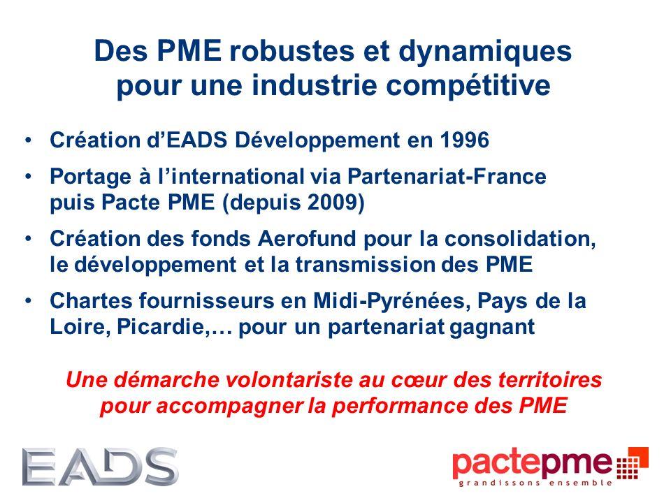 Des PME robustes et dynamiques pour une industrie compétitive