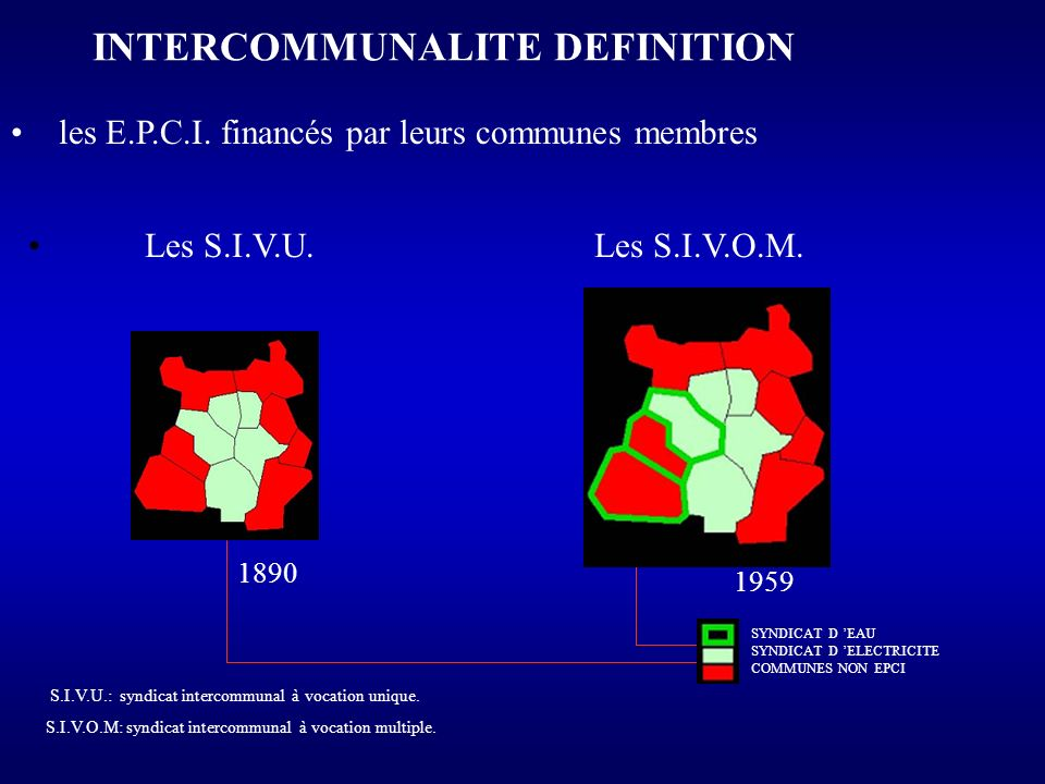 INTERCOMMUNALITE DEFINITION
