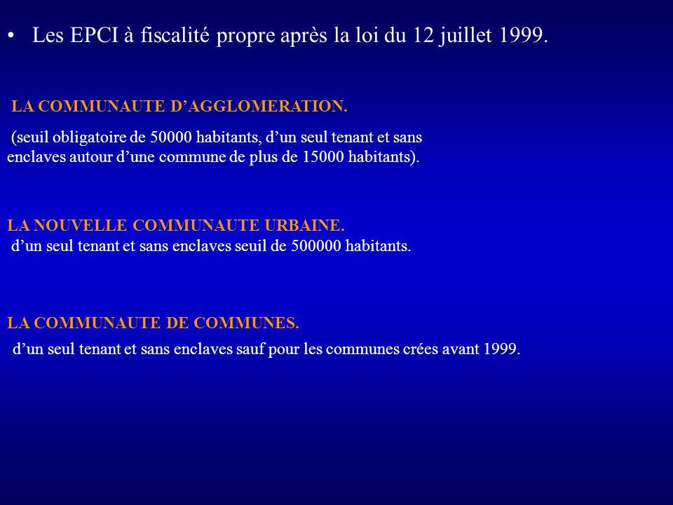 Les EPCI à fiscalité propre après la loi du 12 juillet 1999.