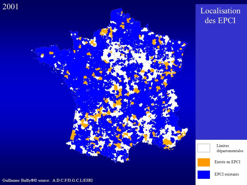 2001 Localisation des EPCI Entrée en EPCI EPCI existants
