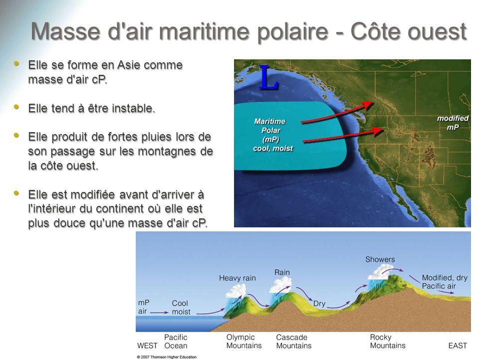 Masse d air maritime polaire - Côte ouest