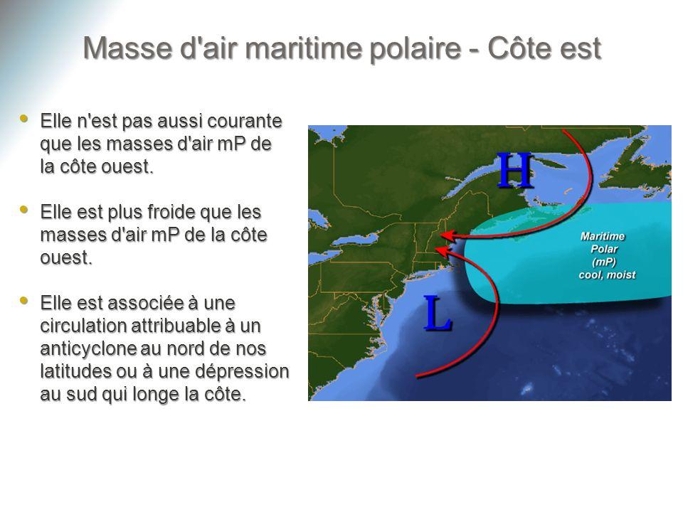 Masse d air maritime polaire - Côte est